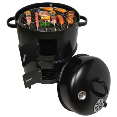 Factory Outlet 3 in 1 Multi-Function Use Outdoor Smoker Charcoal Barbecue Grill With Thermometer