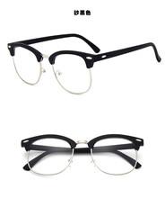 Ретро очки Zero, оправа для женщин и мужчин, винтажные поддельные компьютерные оптические очки с гвоздями, прозрачные зеркальные линзы, очки, ...(Китай)