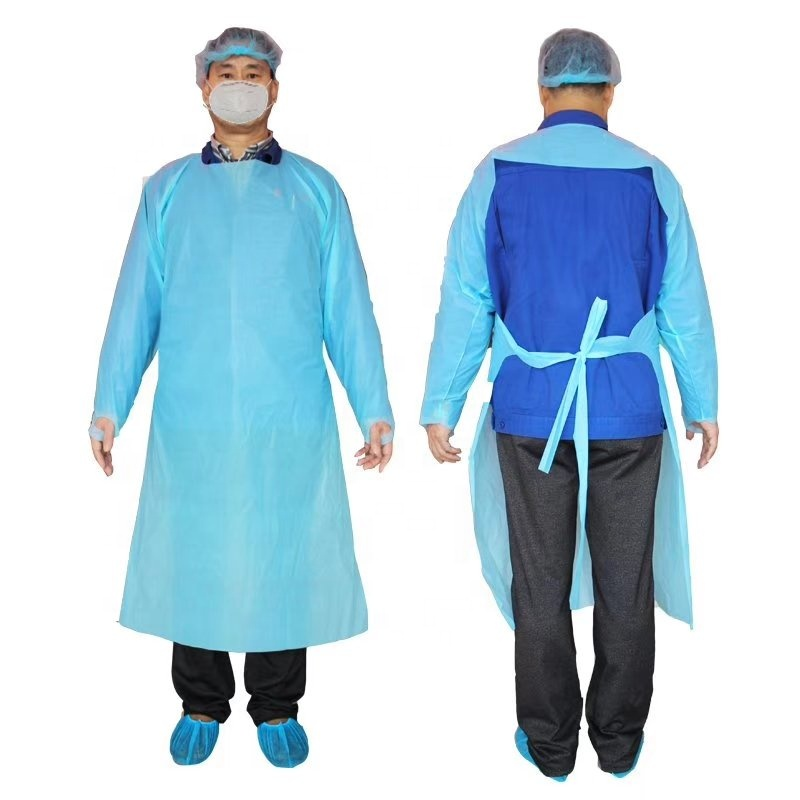 CPE Disposable Isolation Gowns - KingCare | KingCare.net