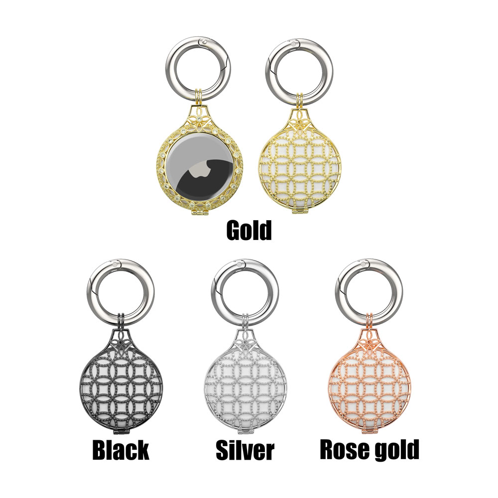 New Arrival Diamond Copper Protective Case With Spring Buckle for Airtag