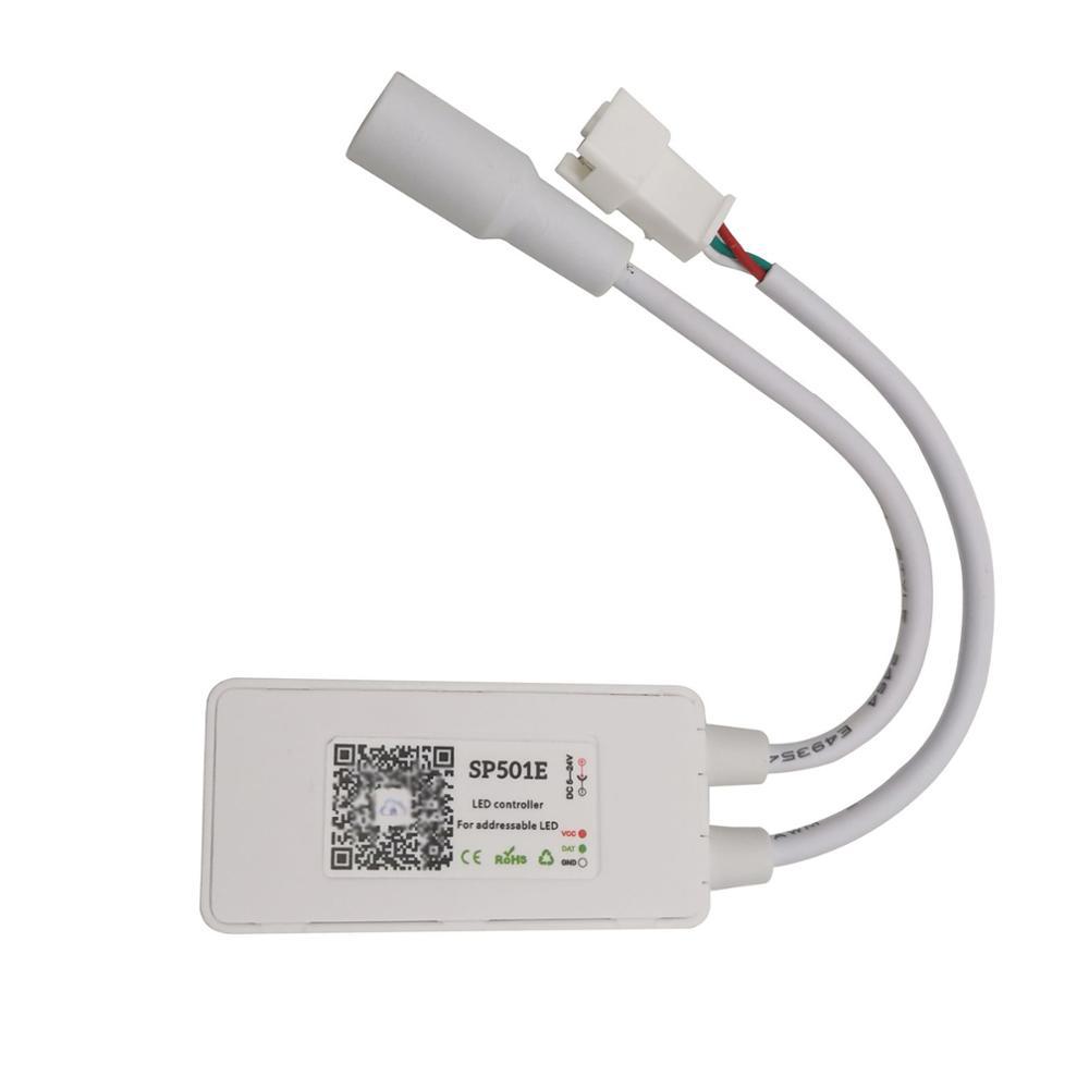SP501E LED Wifi Light WS2812B Controller Addressable RGB Strip Alexa Smart SPI Voice APP Control DC5-24V