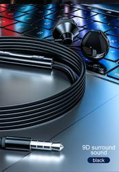Новая стильная Проводная гарнитура с разъемом Type-C для наушников с 9D объемным звуком