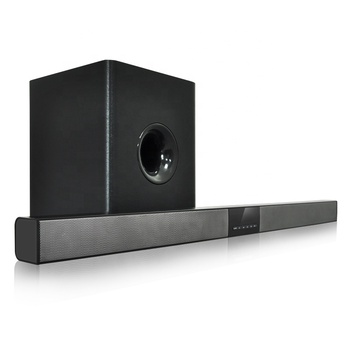 Aluminum Portable Wireless Bluetooth Sound bar Single 3D Surround SoundBar System For TV With Wired Subwoofer