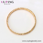 18k Bangle 52633 Xuping Hollow Cuff 18K Gold Plated Environmental Protection Copper Bangle B192058