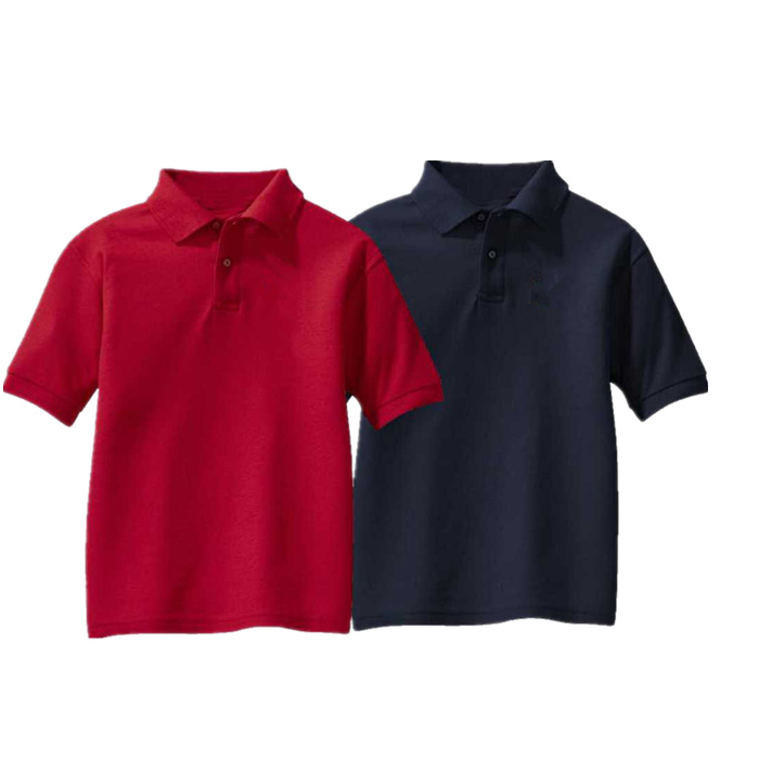 100%polyester customized Embroidery company polo t shirt staff uniform