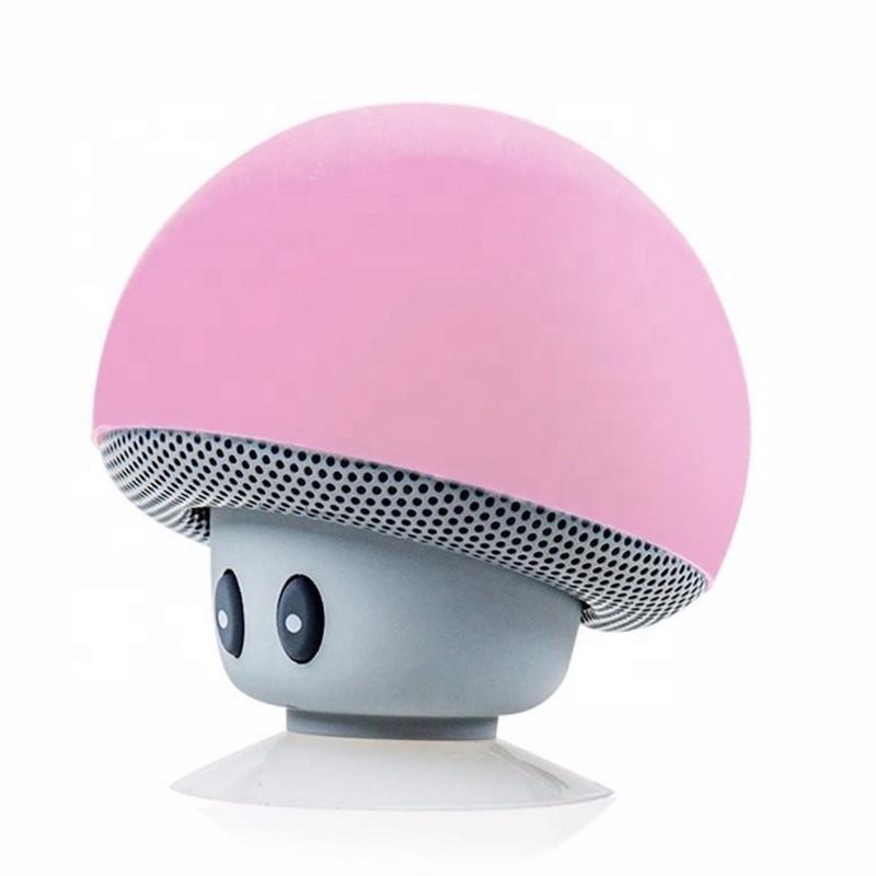 Museeq OEM Manufacturer Som Sucker Mushroom Phone Holder IPX4 waterproof Shower Portable Wireless Mini BT Speaker - idealSpeaker   idealSpeaker.net