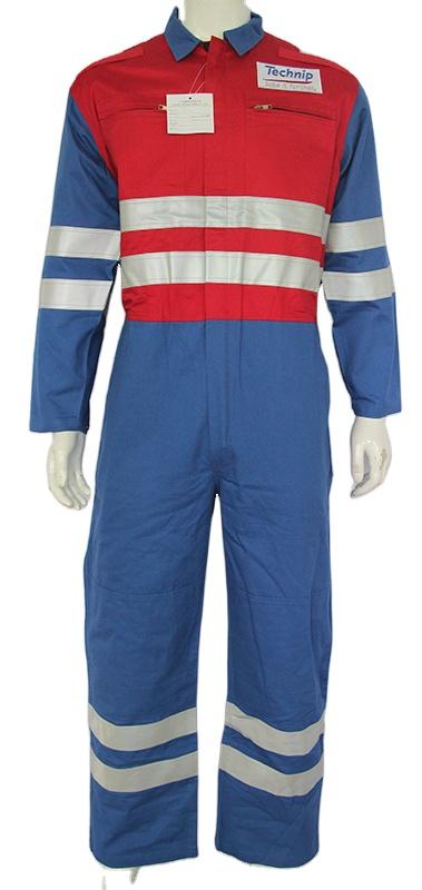 Одежда из 100% хлопка, промытый светоотражающий защитный Рабочий Комбинезон контрастных цветов