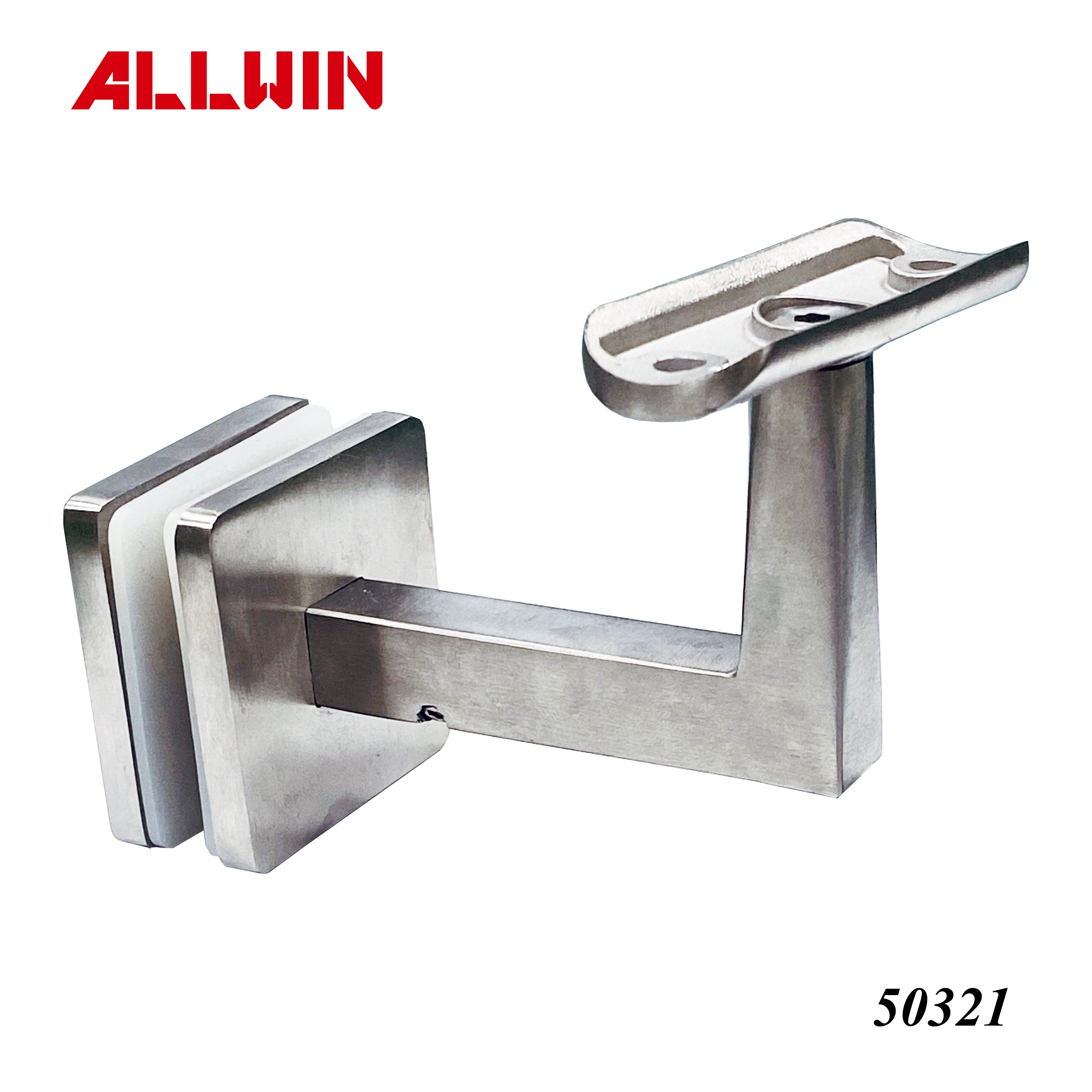 Stainless Steel Mounted Square Adjustable Handrail Bracket