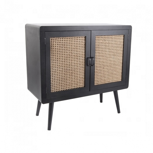 Wholesale high quality rattan living room furniture wooden cabinet combine rattan made in Vietnam