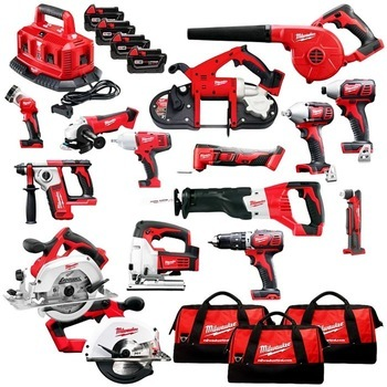 Best Price for Complete set for Milwaukee-2695-15 M18 18-Volt Cordless Power Lithium-Ion 15-Tool Combo Kit New power drills