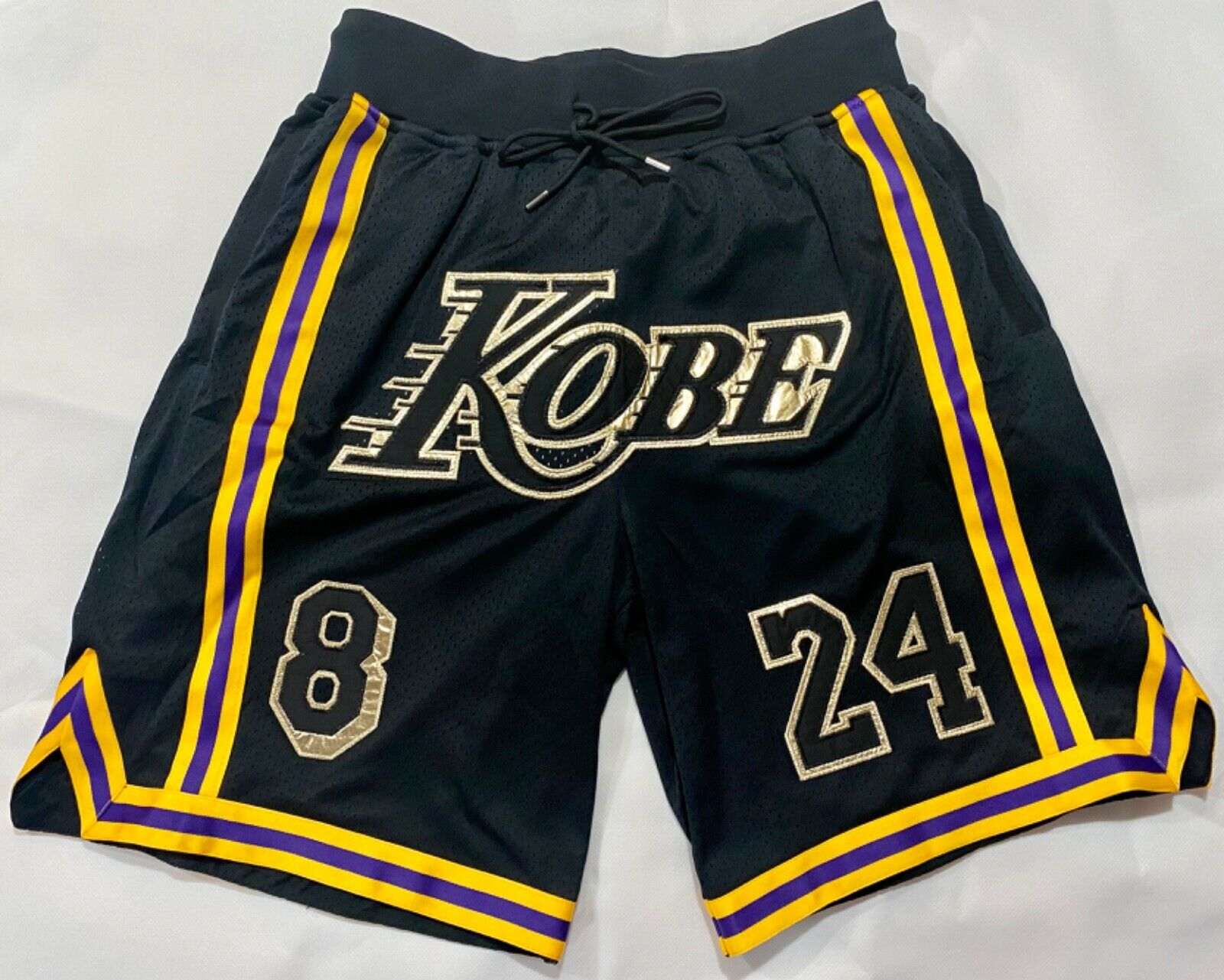 New Nbaa Basketball Shorts Custom Teams Kobe Bryant 24 Los Angeles ...