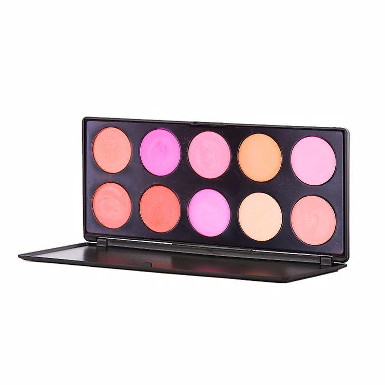 No Logo Custom 10 Color Violet Cosmetic Blusher Face Plate Makeup Private Label Multi Color Blush Palette High-pigment