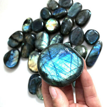 Handcrafted Jewelry Natural Labradorite cut Stone certified Loose Gemstone