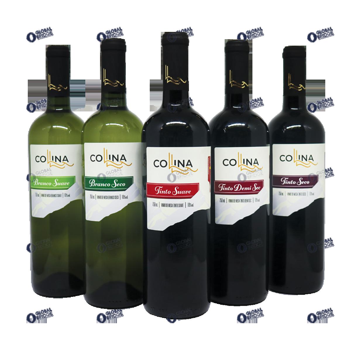 Wine Demi Sec Red Collina Made in Brazil 750 ml Bottle American Grapes Winemaker Drink Alcoholic Beverage Grapes Wine Vinho
