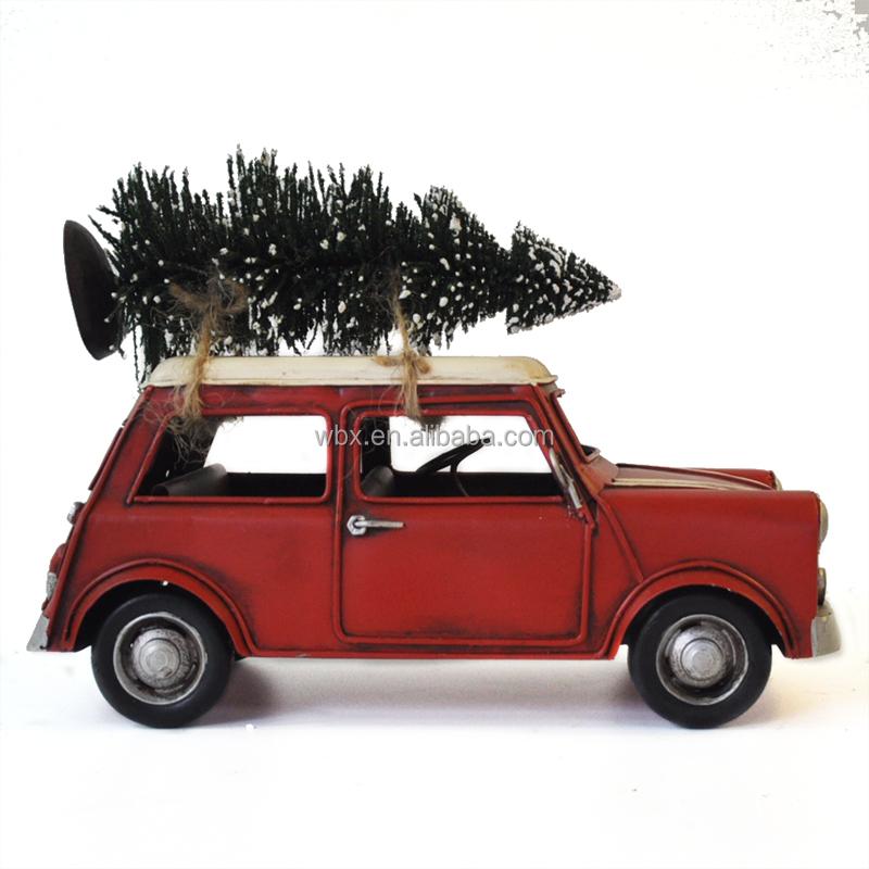 Toyvian Modelo de Coche de /época con /árbol Navidad Metal cami/ón Modelo decoraci/ón de Escritorio
