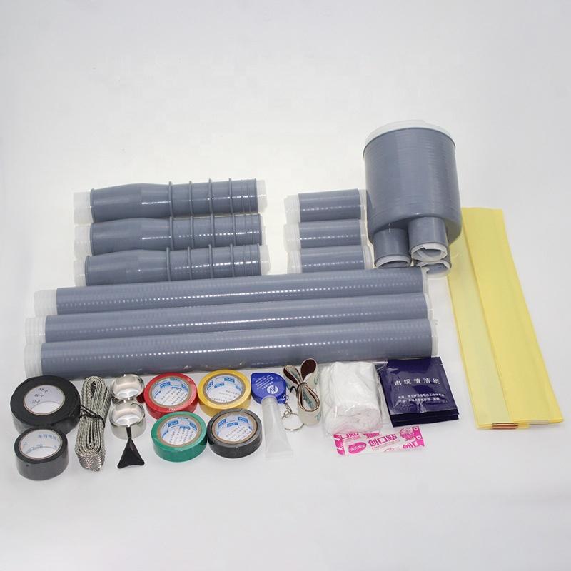 Прекращение рукав силиконовый резиновый кабель термоусадочная трубка набор с клеем холодной усадки рукав
