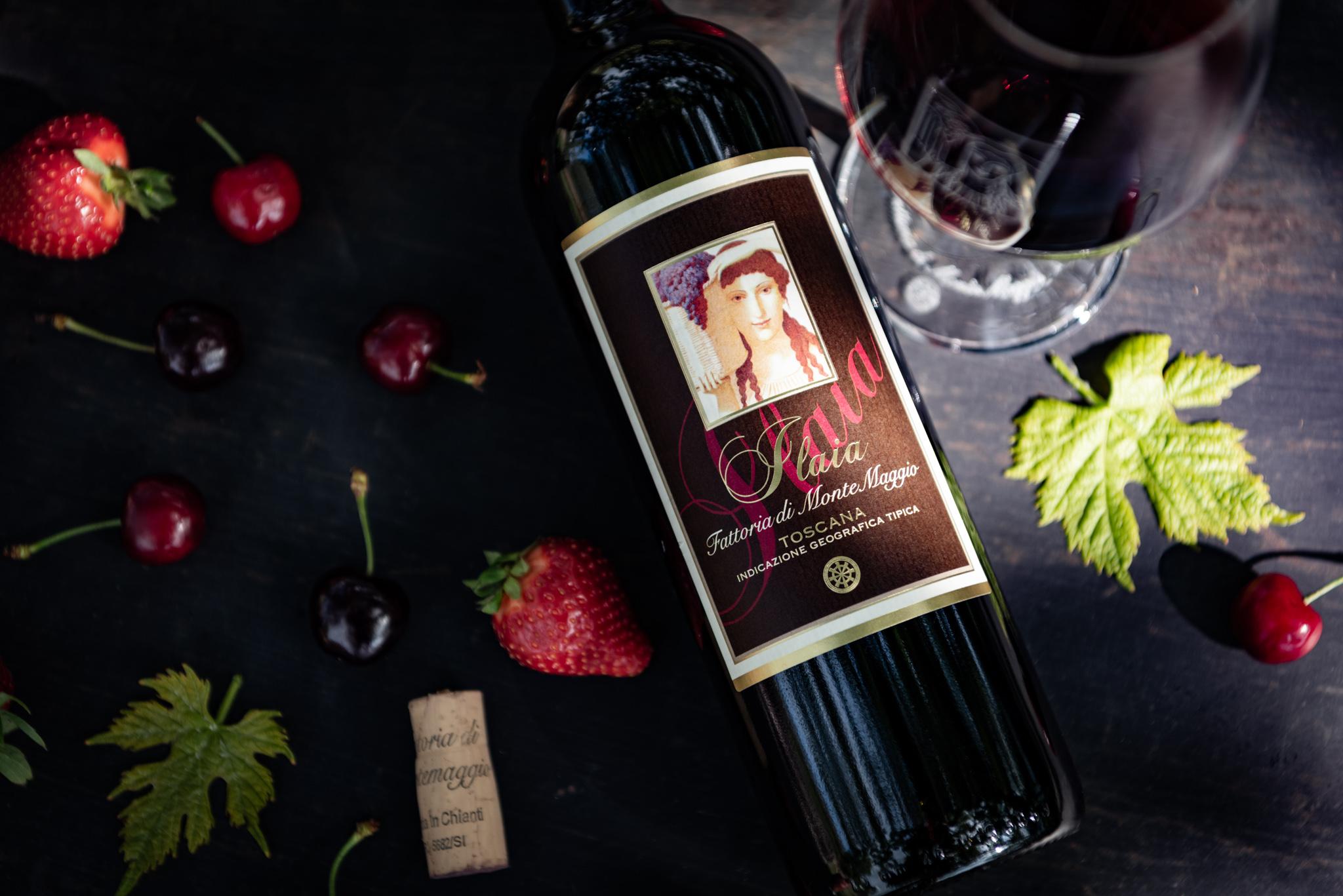 Italian Organic  Fine Dry Red Wine IGT Rosso Toscano Pugnitello Montemaggio