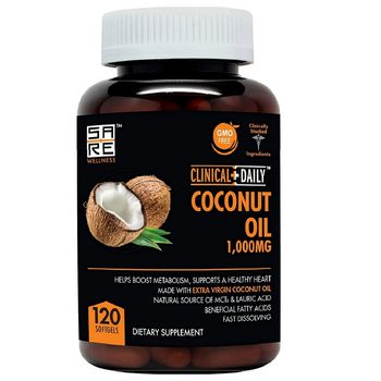 Pure Extra Virgin Hair Fertilizer Organic Coconut MCT Oil Capsules supplement.120 Lauric & Caprylic Acid OEM/Private Label