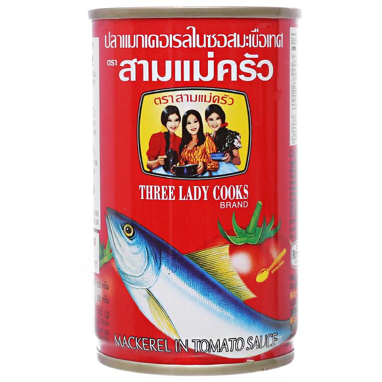 Три леди повара скумбрия в томатах Tined 170 г