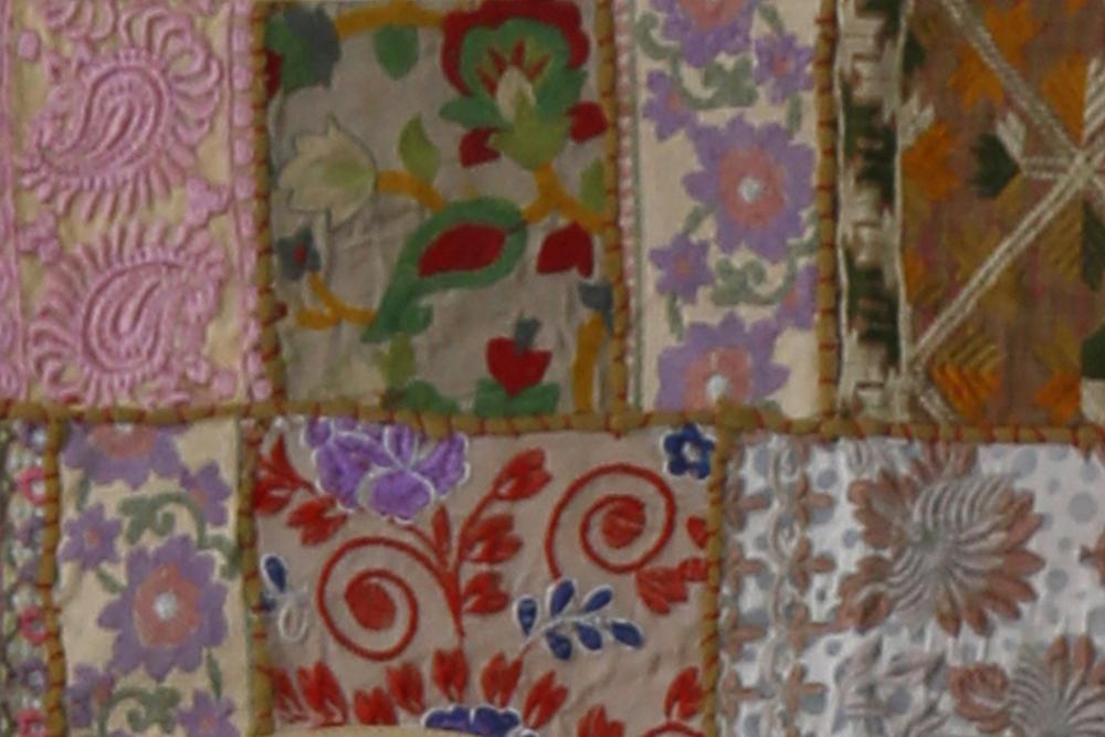 Traditional hand embroidered indian door window hanging vintage gypsy patchwork bandhanwar valance