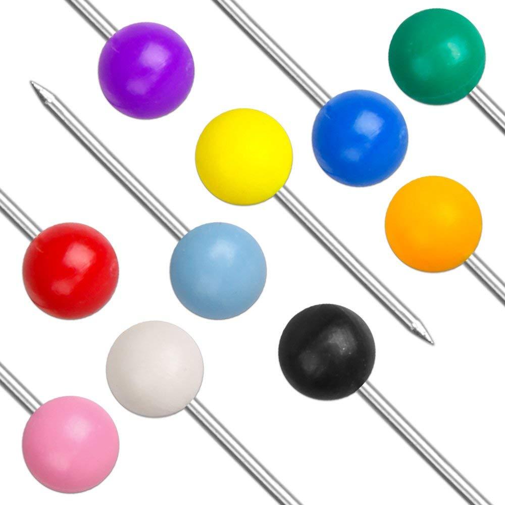 Оптовая упаковка, разноцветные пластиковые круглые шариковые булавки 4*15 мм со стальной точкой