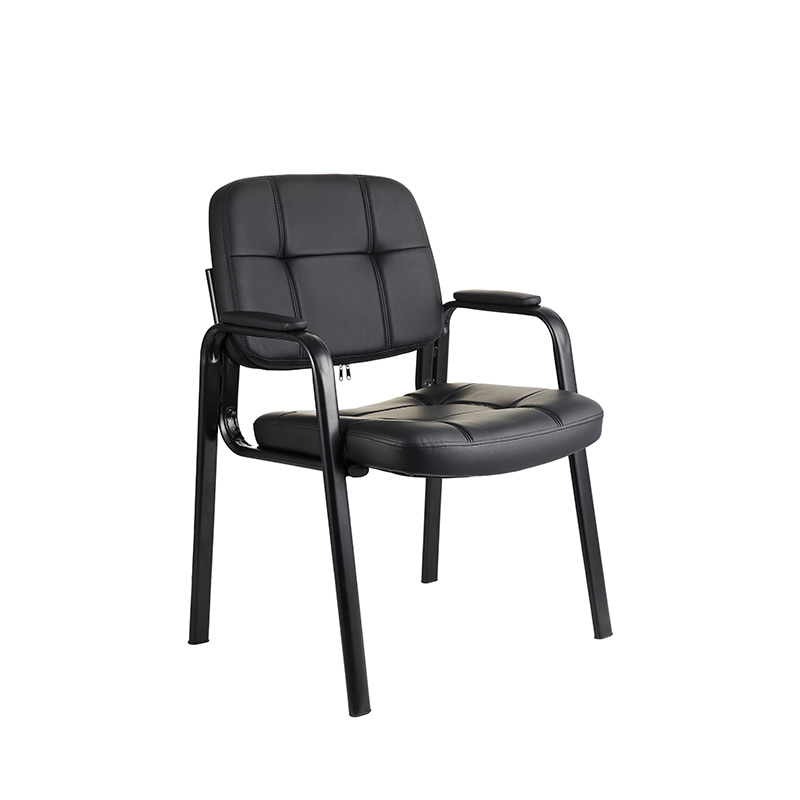 OEM Bonded Leather Padded Arm Rest Dining Conference Chairs for Home