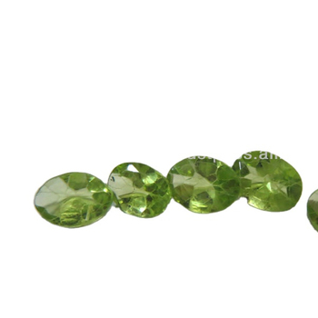 5mm x 7mm Peridot cushion cut loose gemstones faceted gems