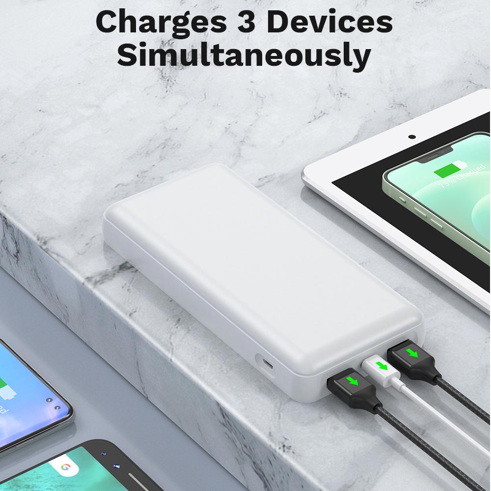Портативное зарядное устройство для мобильного телефона высокой емкости 24000 мАч PD 3,0 20 Вт и QC 3,0 20 Вт двойной USB-порт для быстрой зарядки