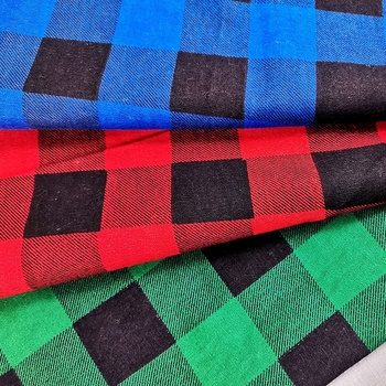 print 100% cotton/ CVC/ TC double side brushed flannel fabric