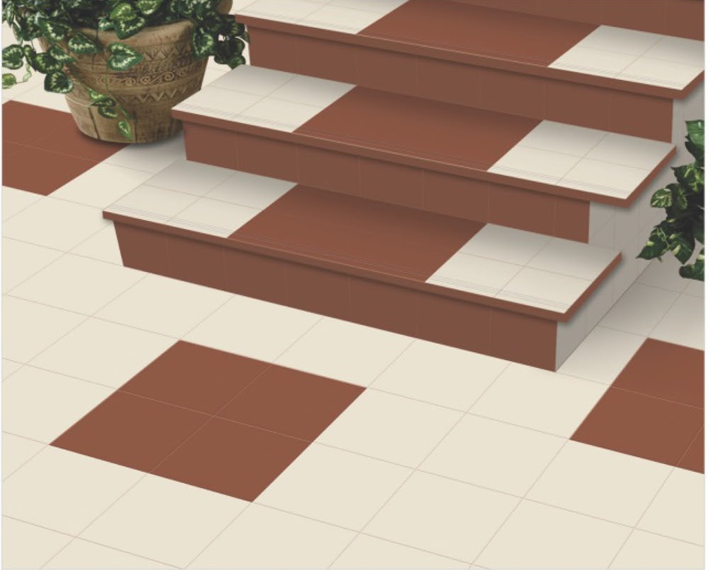 ivory and terracotta parking tile 300x300 30x30 30 30 cm 300 300 mm 300 x 300 mm 12x12 12 12 inch buy ivory and terracotta parking tiles outdoor