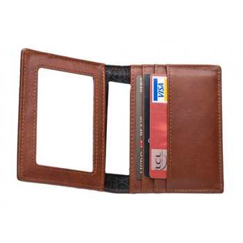 Buy 2021 New Arrival High Quality Pu Leather Car Wallet With 1 ID Label Window 1 Business Card 3 Credit Card Slot At Best Price