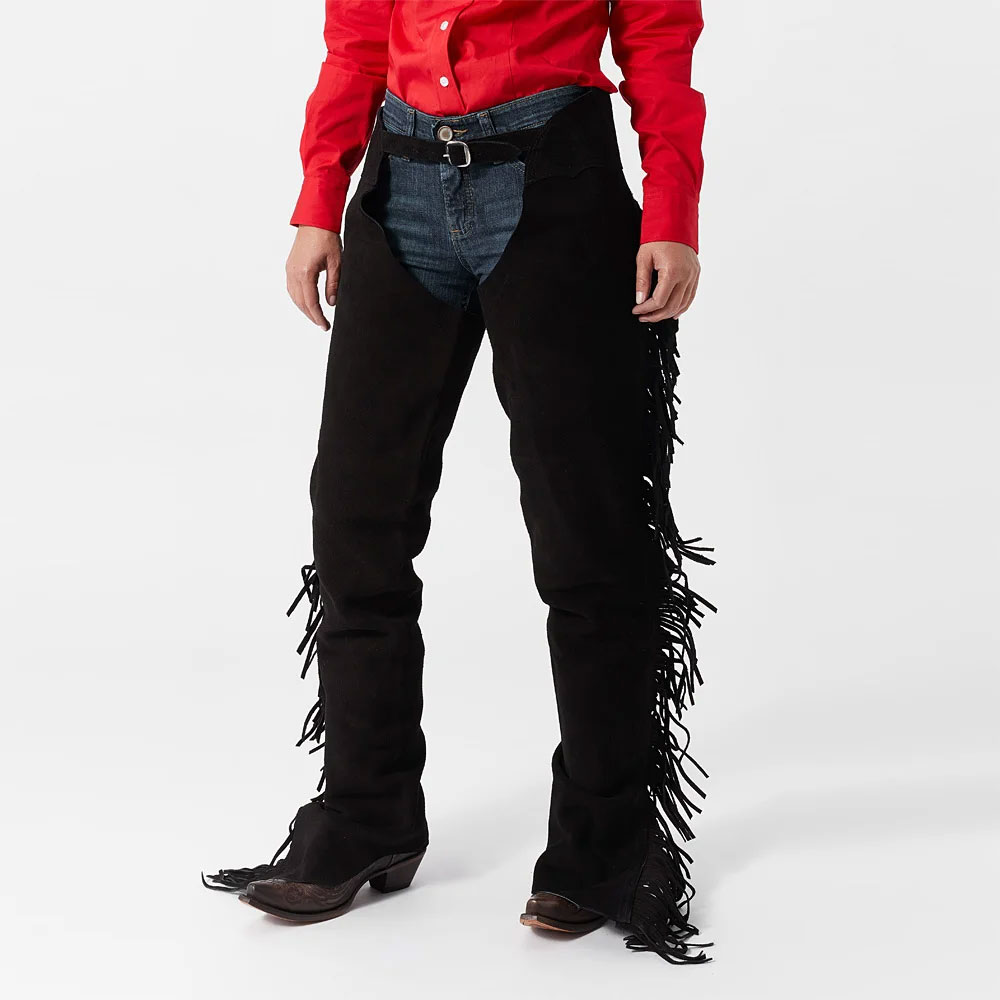 Custom Design Horse Riding Chaps Cowhide Gaiter Half Chaps with Elasticated Panel for Men and Women