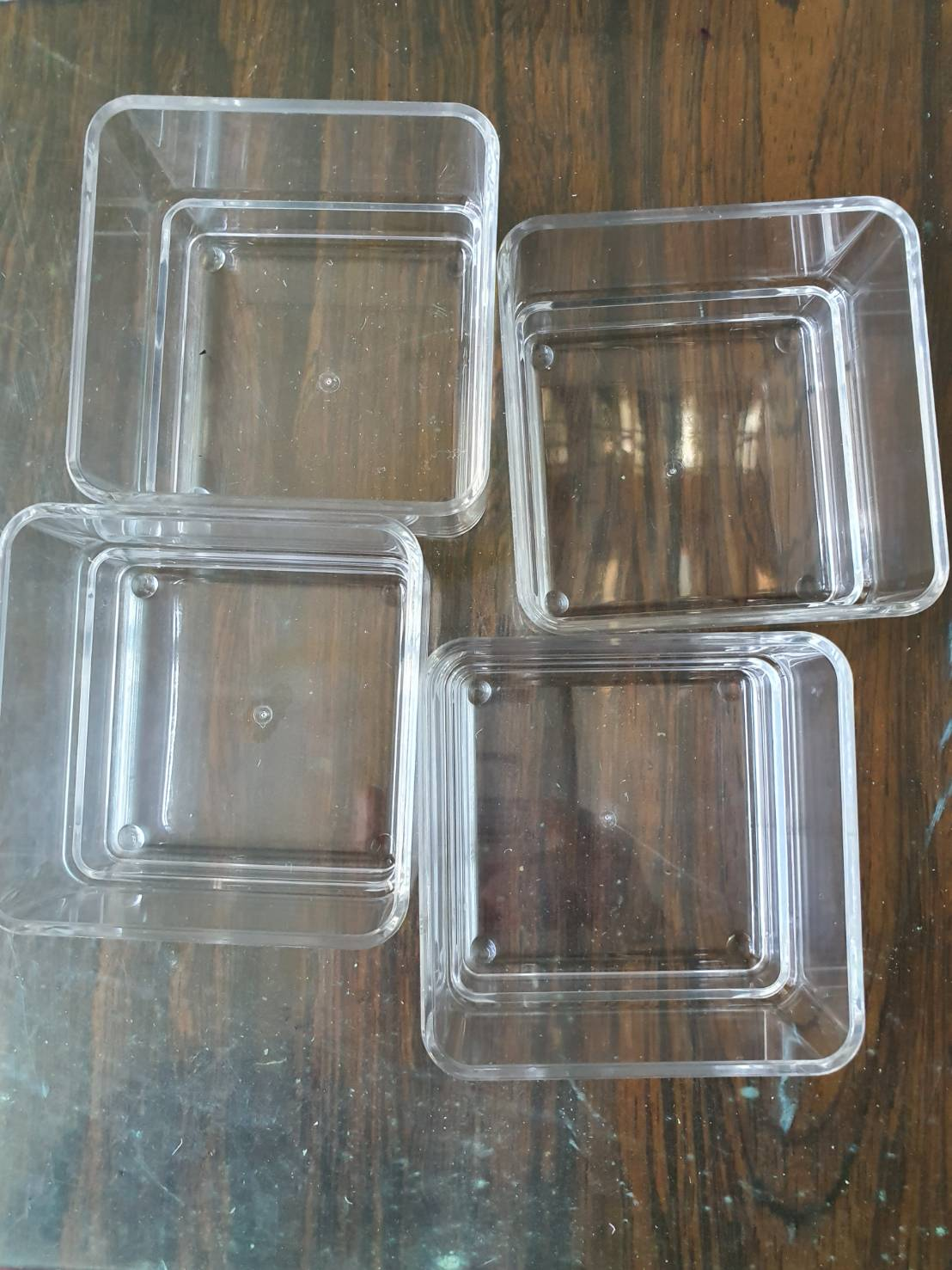Clear Acrylic cosmetic organizers mold