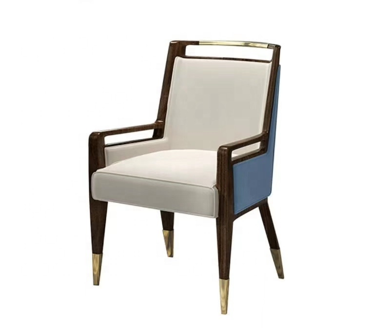 restaurant furniture dining chair with wood legs optional leather color fabric chair
