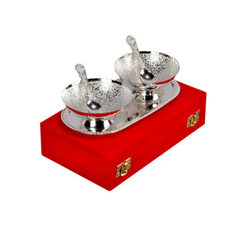 Luxury Silver Plated Bowl Sets Indian Wedding returns Gifts Direct India Factory Sale On hot Sale