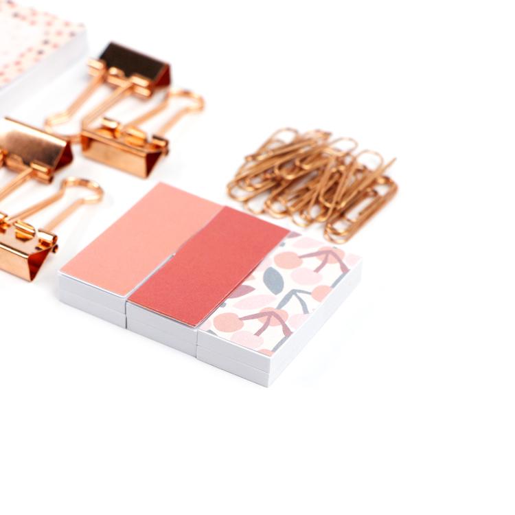 2021 Оптовая Продажа Модные школьные принадлежности Высокое качество Липкие заметки, закладки, скрепки и скрепки, набор липких заметок