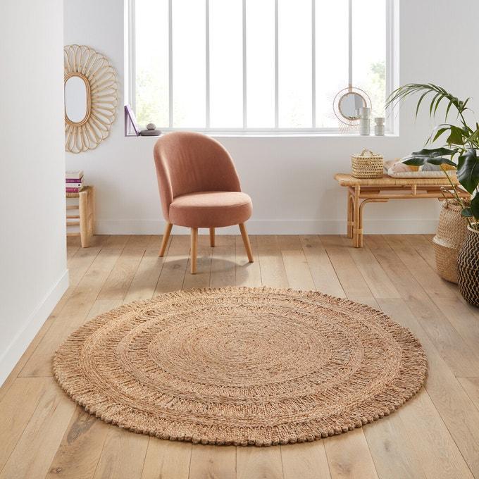 100 Handmade Texture Finish Jute Rug