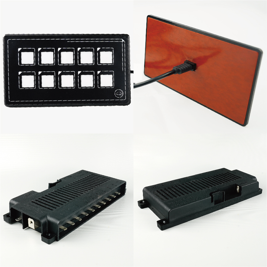 YIS Marine DC 12v slim membrane touch switch panel waterproof car off road light control rv boat marine caravan