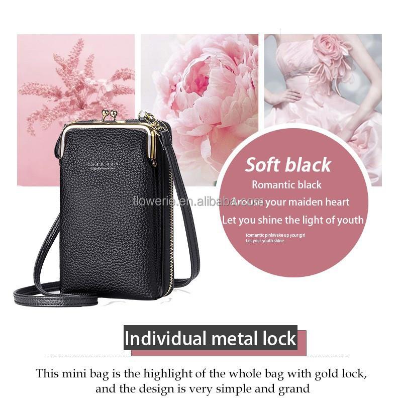 Cellphone Wallet Lady Purse Phone Pouch Wristlet Clutch Crossbody Shoulder Bag