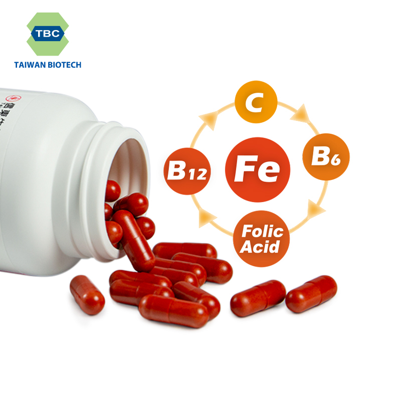 OEM minerals supplement Iron and vitamins capsule