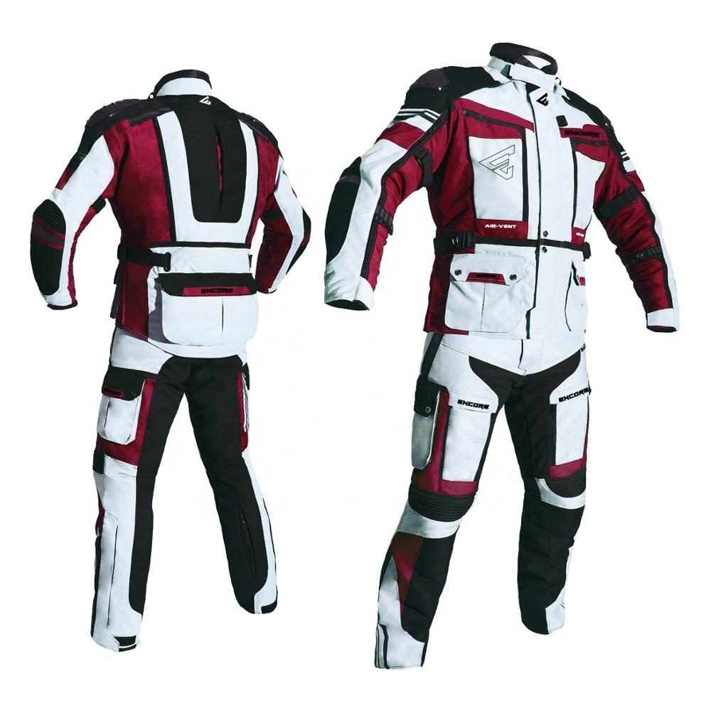 High Tech Gear Waterproof & Breathable Men's Motorcycle Racing Suits With CE Approved Protections