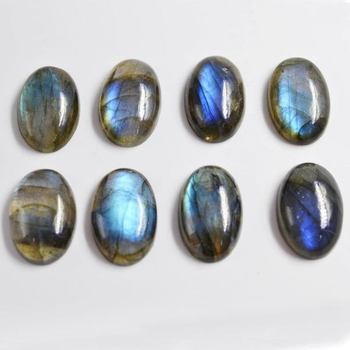 16.35 Ct. Blue fire Natural Labradorite gemstone, 15x24mm Oval Shape Labradorite Cabochon Stone for jewelry, flash labradorite