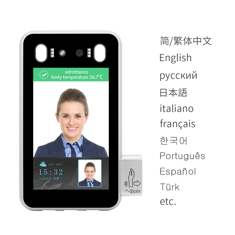 ai access control android ios screening thermal imaging temperature scanner face recognition camera