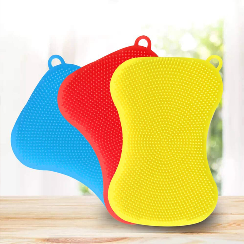 Set Of 3 Silicone Sponge Dish Washing Kitchen Food Grade Dishes Multipurpose Better Sponges Non Stick Clean Buy Magic Cleaning Sponge Kitchen Sponge Brands Product On Alibaba Com