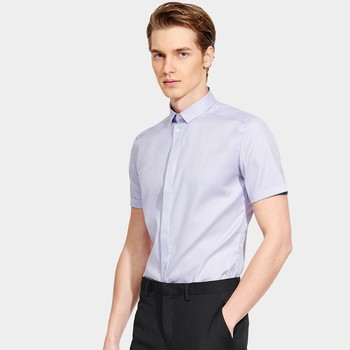 2020 High quality 100% Cotton Men Dress Shirt Slim Fit