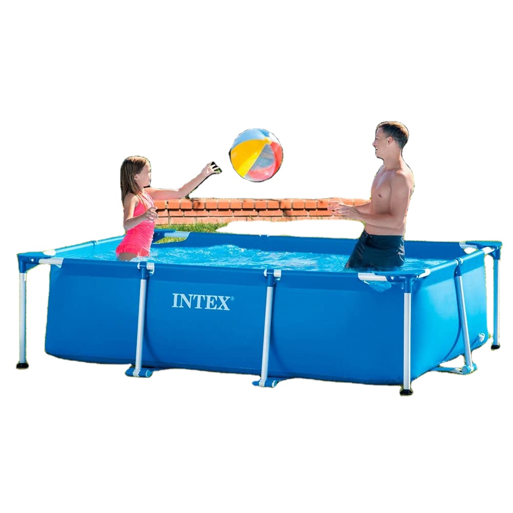 Intex 28270 Above Ground Swimming Pools Rectangular Pool 220x150x60 Cm Without Filter Pump Small Frame Pool Water Fun At Home Buy Intex Adult Swimming Pool Swimming Pool Metal Frame Intex Swimming