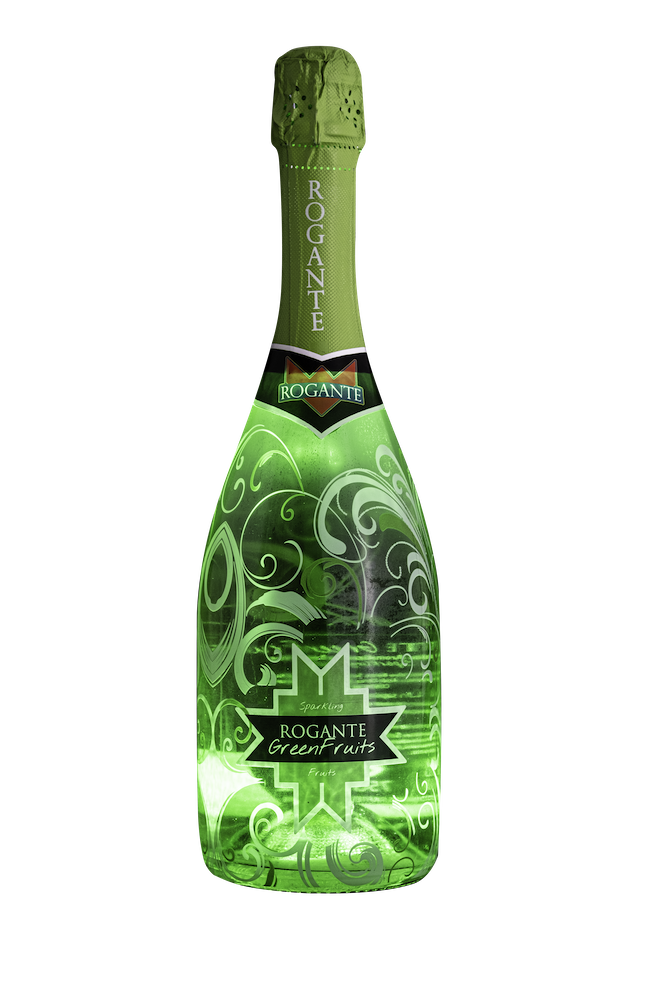 Коробка Rogante, 4 бутылки с подсветкой, итальянское Сверкающее Фруктовое вино, оптовая продажа