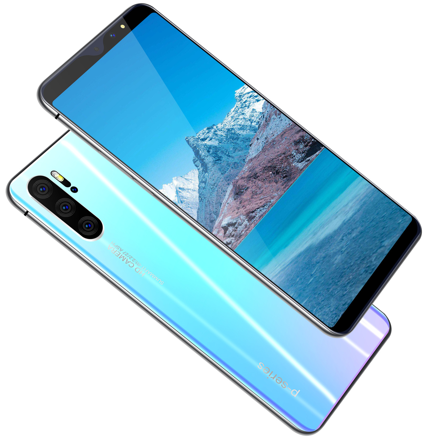 wholesale cheap smart phone p31pro android mobile phone Quad core Gradient body Factory Outlet oem low price china mobile phon