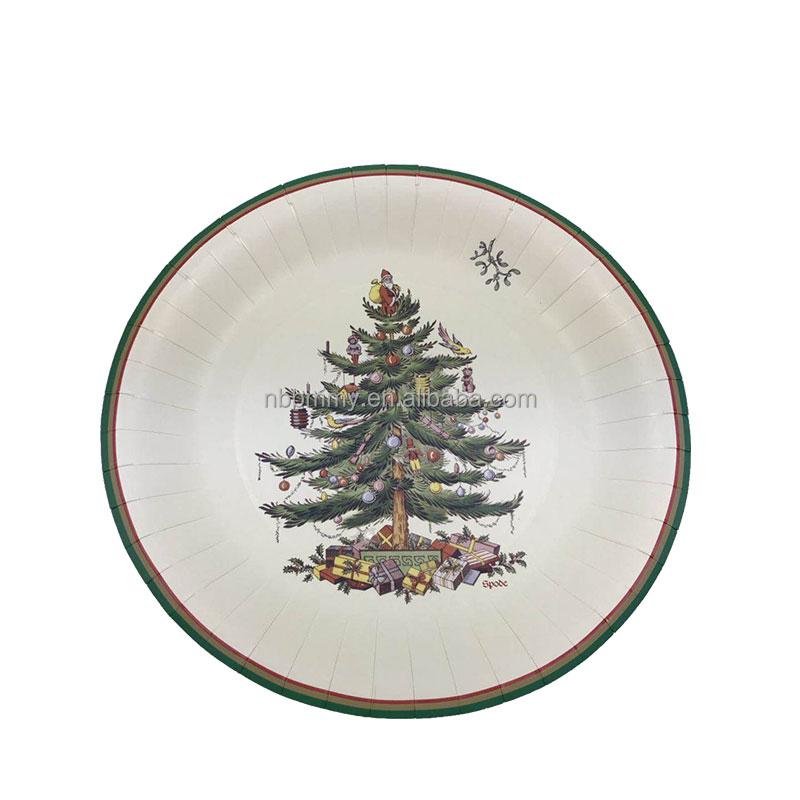 Новое поступление, машина для изготовления бумажных тарелок с рождественской тематикой, одноразовые бумажные стаканчики и тарелки для вечеринок, бумажные тарелки на заказ