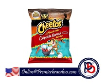 Chips Croquantes Au Fromage Collations Flamin Chaude Chipotle Ranch Aromatisé 8.5oz